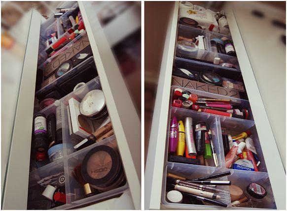 Schminktisch Ikea Malm Schwarz ~ Malm IKEA vanity dressing table makeup organization inspiration