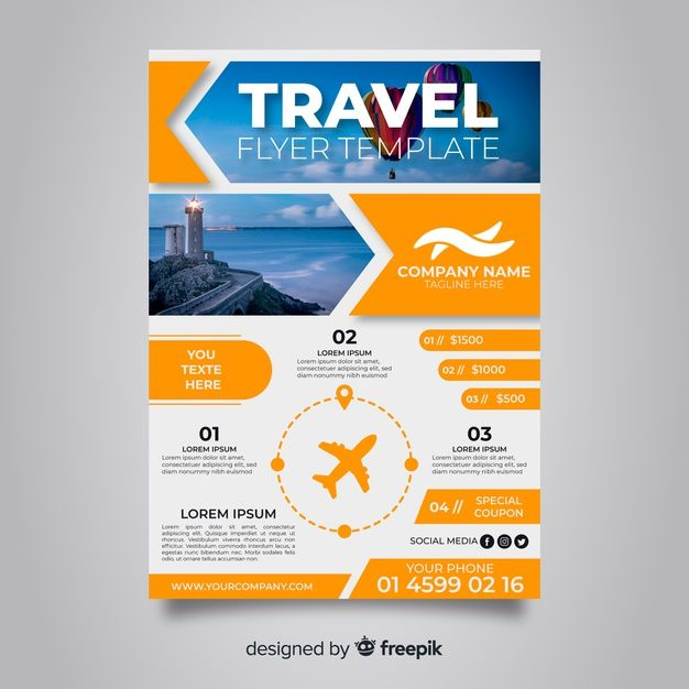 Download Travel Poster Template With Balloons For Free Travel Brochure Template Poster Template Templates Free Design