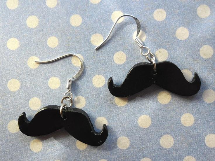 Boucles d'oreilles #Moustache