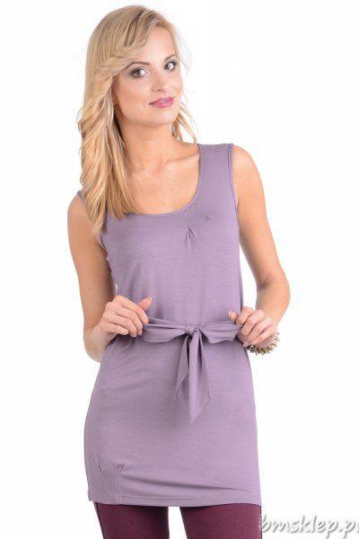 Tunika damska bez rękawków w modnych kolorach tego lata. Przewiązana w talii wyraźnie ją zaznaczając, z okrągłym dekoltem, dosyć długa, zakrywająca pupę i ładnie dopasowująca się do sylwetki.... #Tuniki - http://bmsklep.pl/enny-6017