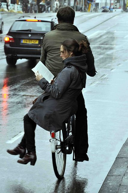 i wish some one would ride a bike with me on the back to work everyday so I could catch up on my reading