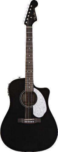 Fender Acoustic Guitar. Fender Sonoran SCE Dreadnought Acoustic-Electric Guitar, Black. #fenderguitars