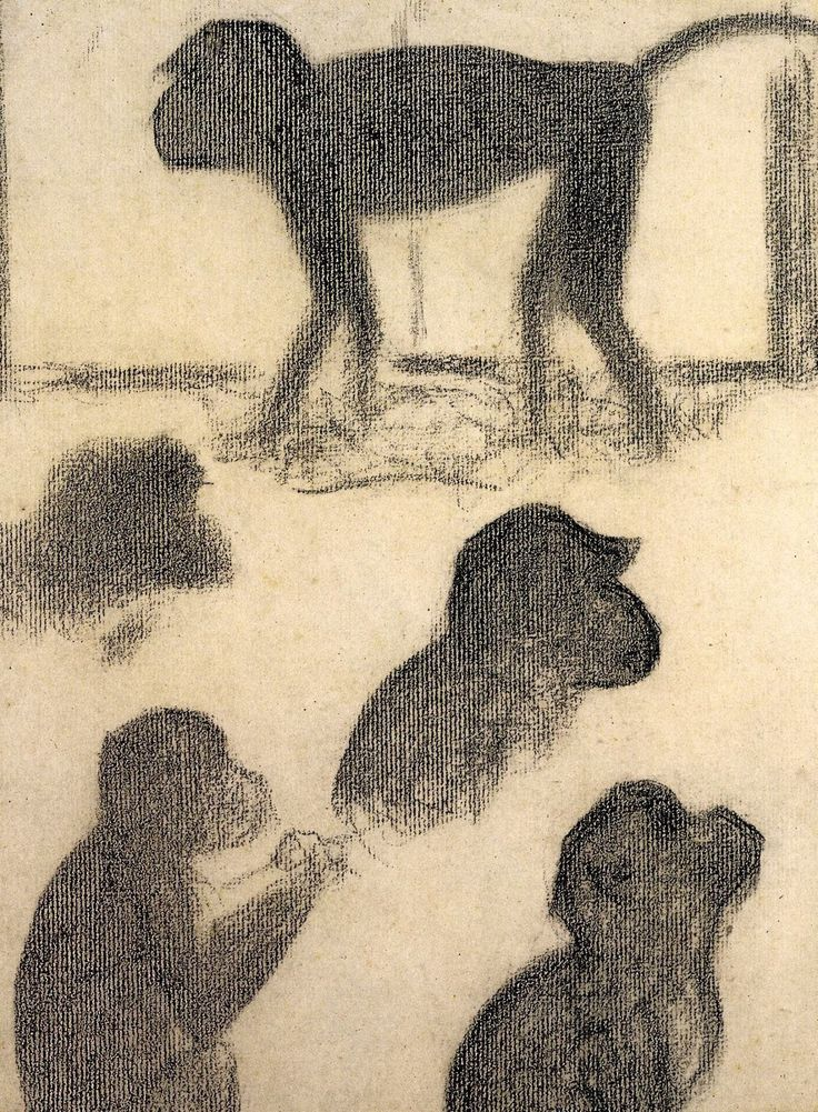 "Georges Seurat - Monkey study for ""La Grande Jatte"" , 1884."