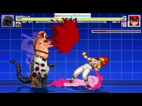 Sweet Tooth The Killer Clown And Godzilla VS Jin The Wind Master & Pinkie Pie In A MUGEN Match This video showcases Gameplay of Sweet Tooth The Killer Clown From The Twisted Metal Series And Godzilla VS Jin The Wind Master From The Yu Yu Hakusho Series And Pinkie Pie From The My Little Pony Friendship Is Magic Series In A MUGEN Match / Battle / Fight