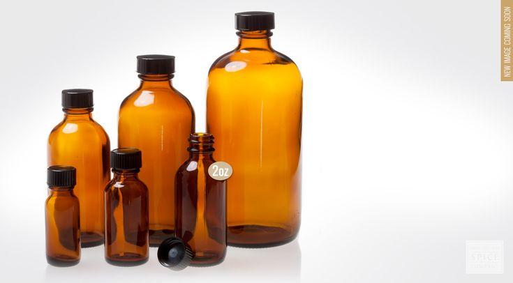 2 oz. amber bottle w/ lid