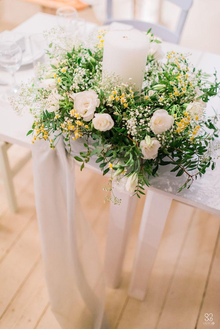 Beautiful fresh centerpiece  #centerpieces #yellow #green #flowers #white #decoration #destinationwedding #summerwedding #weddingplanner #dreamsinstyle