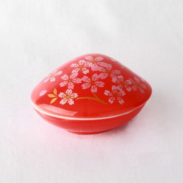 Arita porselein-Japanse wierookhouder-Schelpvorm-Sakura