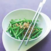 Haricots verts sautés, émincé de porc - une recette Asiatique - Cuisine