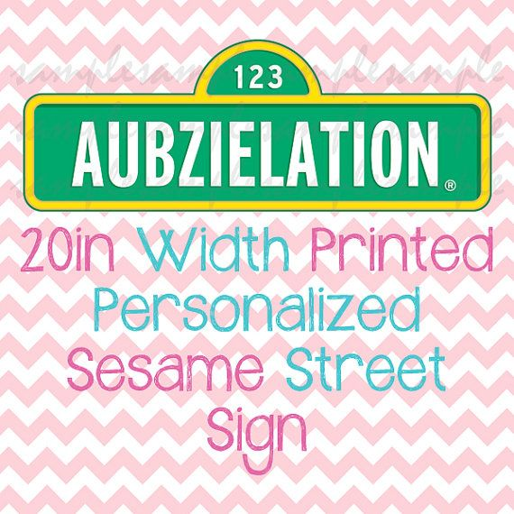 Personalized Sesame Street Sign Template