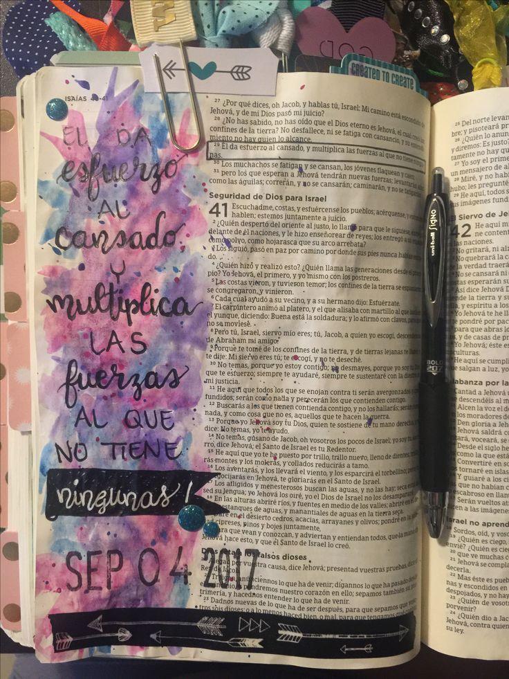 Bible Journaling Entry by Tina Guajardo  Isaias 40:29
