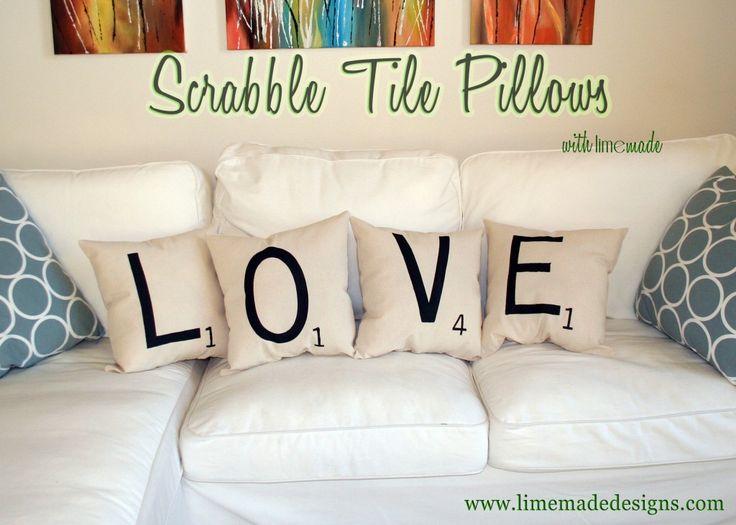 108 best pillows images on pinterest decorative throw pillows scrabble tile pillows tutorial at limemade designs solutioingenieria Gallery