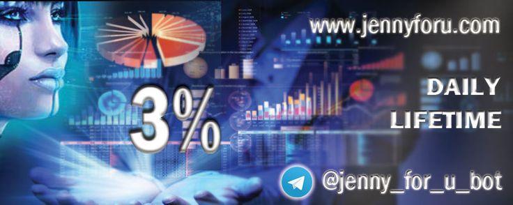 Jenny Auto Trading Crypto Currency BOT, Gives 3% Daily https://www.jennyforu.com/?upline=216247182