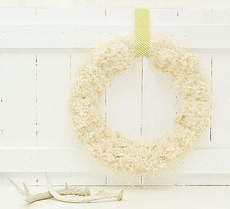 Anthropologie Knockoff Tufted Wool Wreath | Cheaper and prettier than buying one!