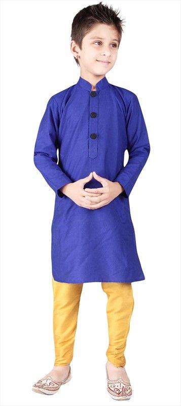 200604: Boy Kurta Pyjama, Silk, Cotton, Thread. #KurtaPyjama #ColorBlock #ethnic #wedding #Partywear #kidswear #onlineshopping