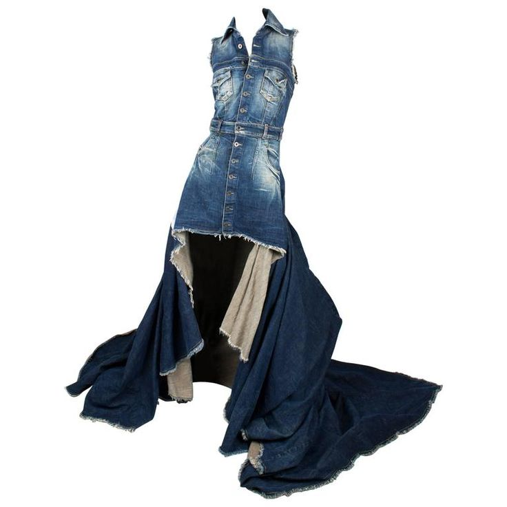 Diesel Denim Dress Limited Edition - blue jeans | From a collection of rare vintage evening dresses and gowns at https://www.1stdibs.com/fashion/clothing/evening-dresses/