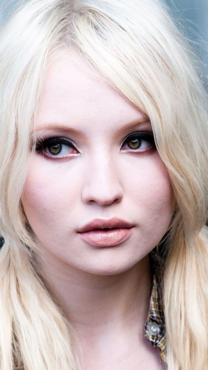herm white-blonde hair and dark