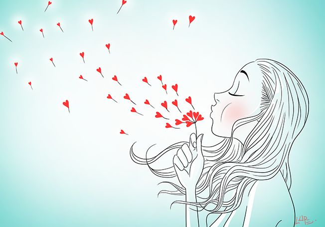 #blog #illustration #hearts #red #blue #woman #love #draw #picture #color