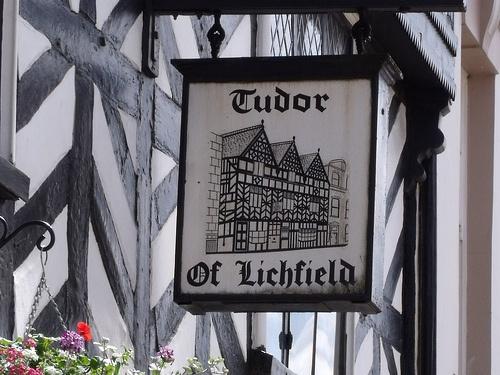 Tudor Cafe, 32 Bore Street, Lichfield - sign