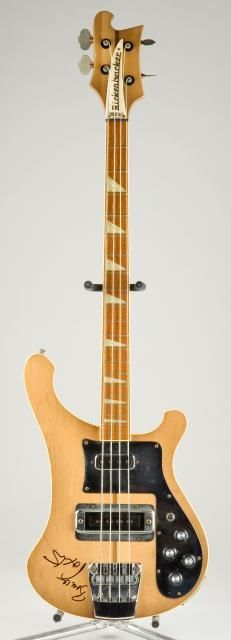 Rickenbacker 4001 bass belonging to Bruce Foxton of the Jam....