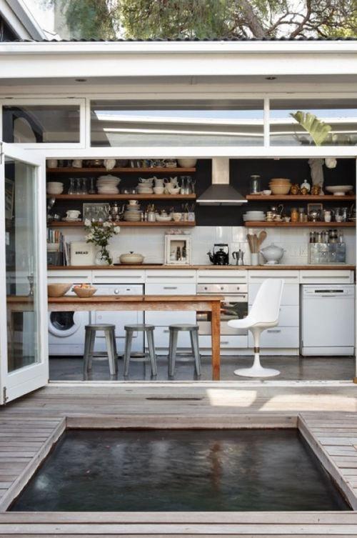 Open space-interior/exterior flow