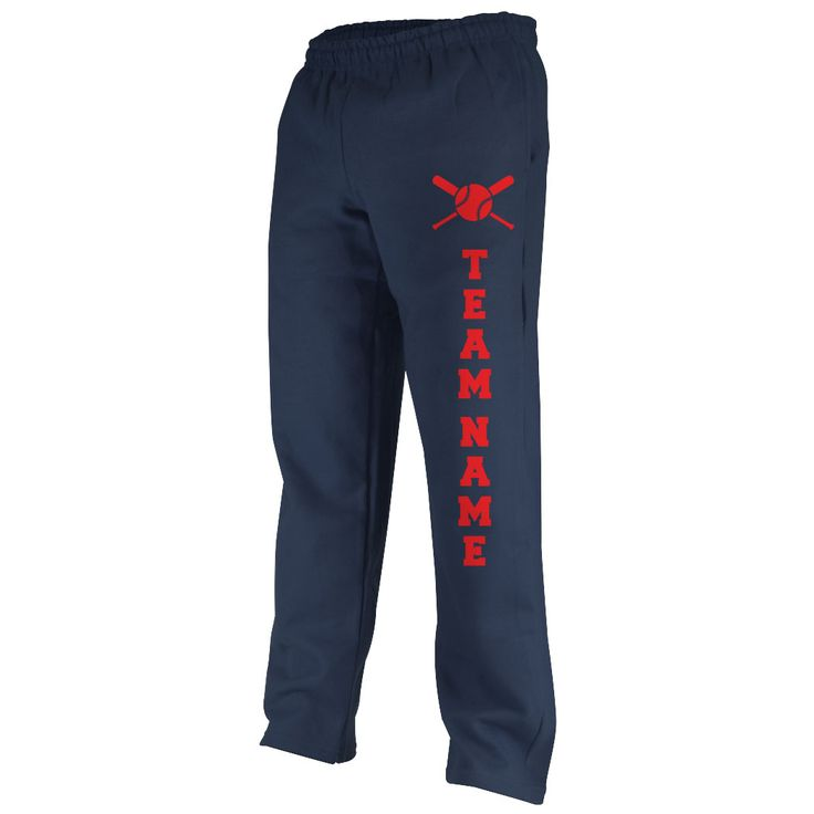 Softball Fleece Sweatpants Softball Team Name