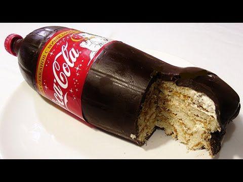 Торт Coса-Cola, Torta bottiglia, Bolo garrafa de Coca-Cola Cake, Рецепт!...