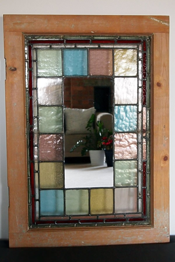 Stained Gl Mirror Stain Picture Frames Pinterest And