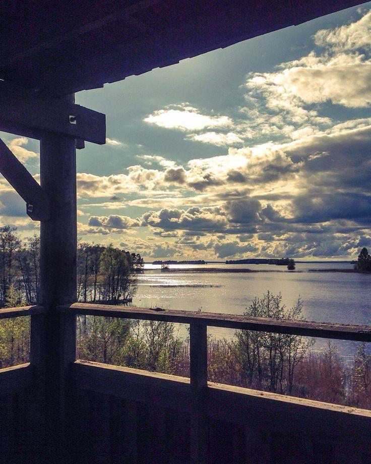 Säkylän lintutorni. Pyhäjärvi, Finland. Photo by @virpula1