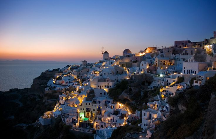 Sunset in Oia, Santorini