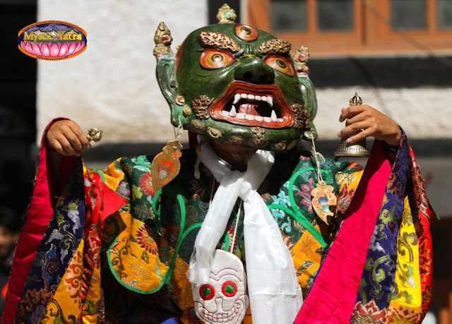 Mystic Yatra: Cham: A Tibetan Mask Festival in the Himalayas. An ancient tantric ritual, alive behind a dance form. #Ladakh #Himalayas #India #Buddhism #Tantric #vedas