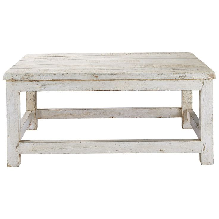 1000 ideas about table basse blanche on pinterest table basse bois clair tables basses en - Tafel bois blanc vieilli ...