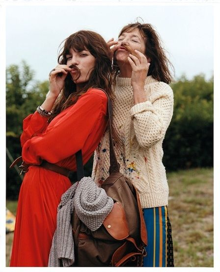 Lou Douillon & Jane Birkin by Bruce Weber for Glamour US, Dec 2011
