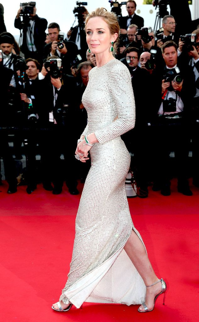 Stars at the 2015 Cannes Film Festival Emily Blunt  The actress looks quite statuesque in this iridescent Stella McCartney column gown. http://www.eonline.com/photos/16102/stars-at-the-2015-cannes-film-festival/489481