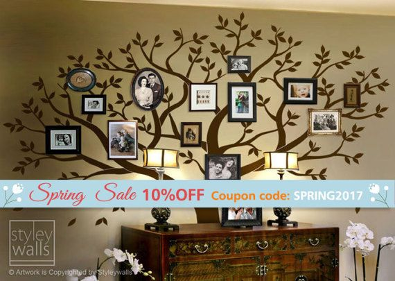 Lovely Frame Tree Wall Decal, Family Tree Wall Decal, Photo Frame Tree Wall Decal  Sticker Part 20