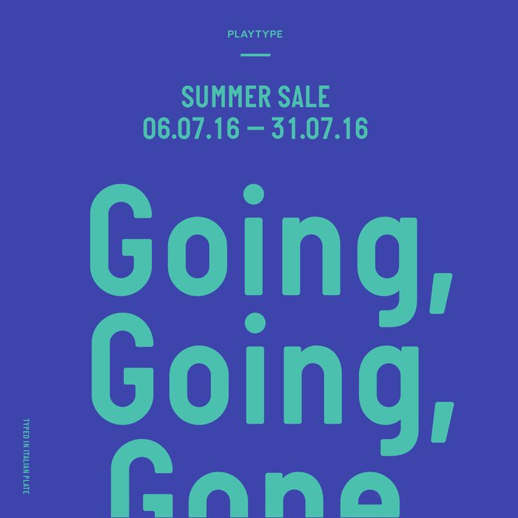 PLAYTYPE STORE SUMMER SALE - 50% discount on selected items.