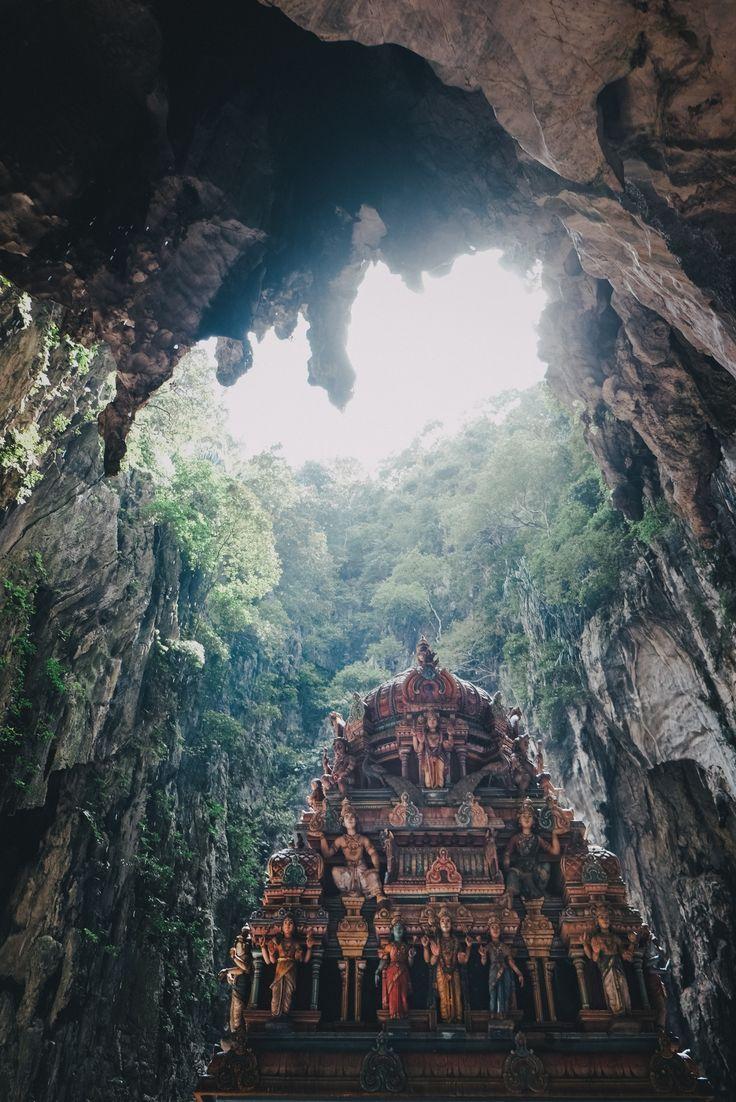 shrine inside the batu caves, kuala lumpur, malaysia