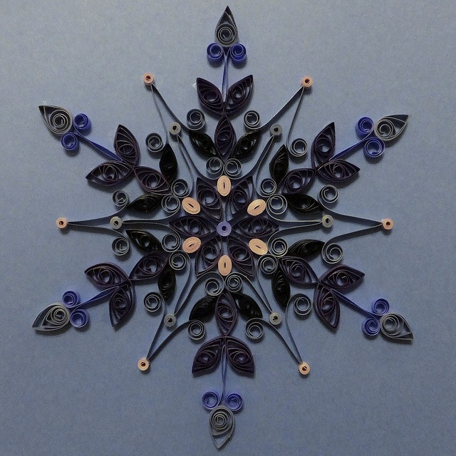 Quilled Snowflake Star