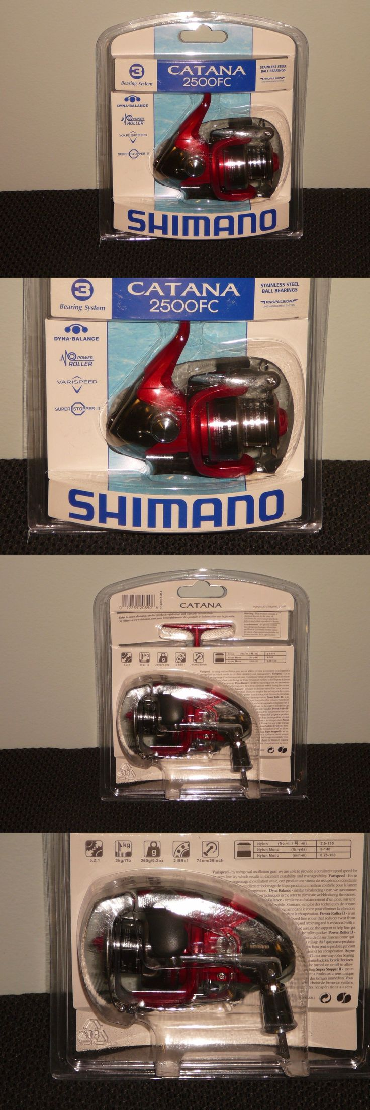 Spincasting Reels 108154: *New* Shimano Catana 2500Fc Fishing Reel Bearing System3 Dyna-Balance Varispeed BUY IT NOW ONLY: $36.95