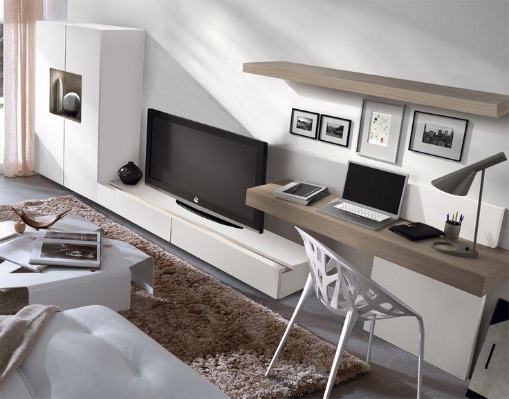 Opción para combinar salón y despacho...                                                                                                                                                                                 Más