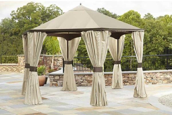 500 Garden Oasis 9x10 Pergola With Heavy Duty Posts Outdoor Living Gazebos Canopies Pergolas Metal Frame Gazebo Pergola Canopy Outdoor