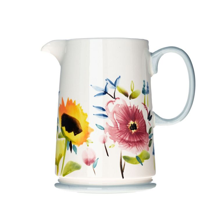 Hand Paint Water Jug from Bluebellgray.com. A Scottish textile design company.