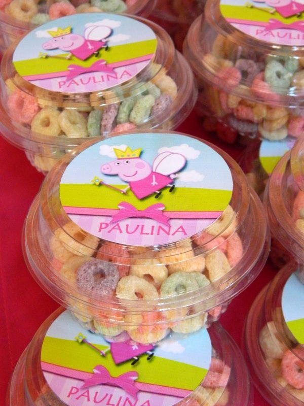 Souvenir de Peppa Pig para el segundo cumpleaños de Paulina.