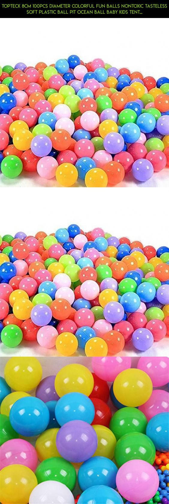 Topteck 8cm 100pcs Diameter Colorful Fun Balls Nontoxic Tasteless Soft Plastic Ball Pit Ocean Ball Baby Kids Tent Swim Toys Ball #dog #kit #products #technology #camera #racing #parts #plans #proof #tech #gadgets #drone #fpv #shopping #pools