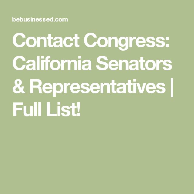Contact Congress: California Senators & Representatives | Full List!