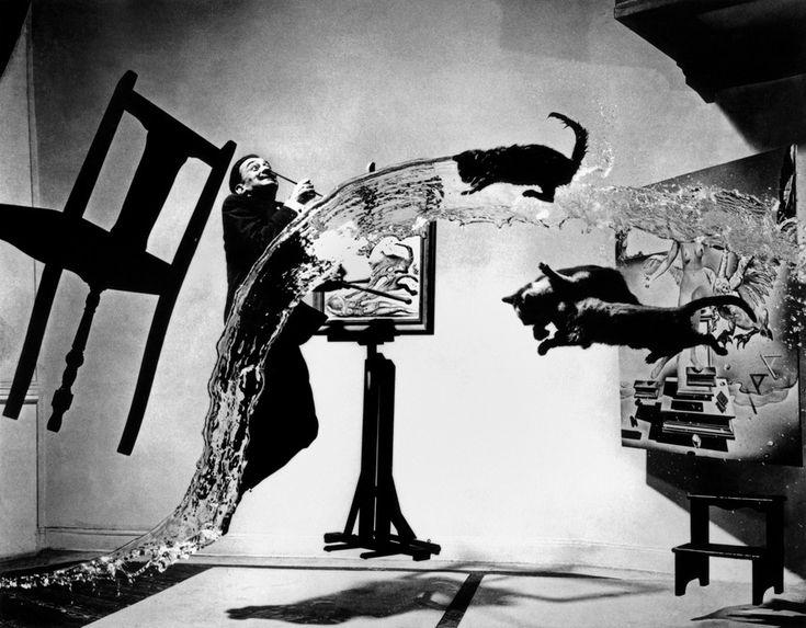 "Spanish painter Salvador DALI. ""Dali Atomicus."" 1948."