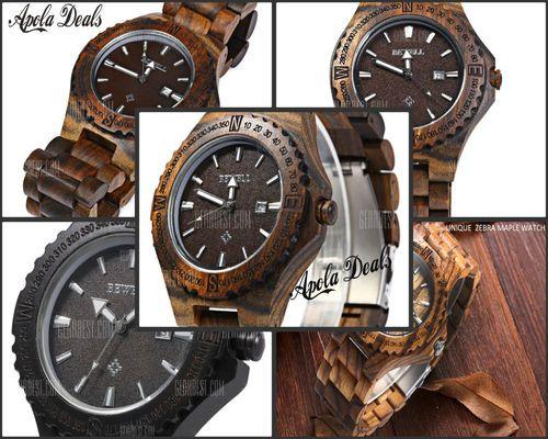 Style elements: Sandalwood. - Unique design: Ebony maple wood watch case, strap…