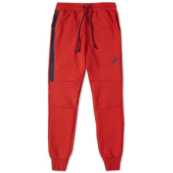 Red Nike Tech Fleece Pants January 2017