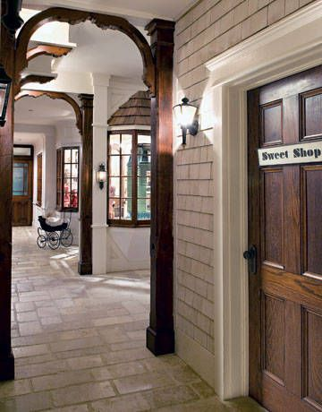 Barbra Steisand's basement is a charming courtyard of stores!