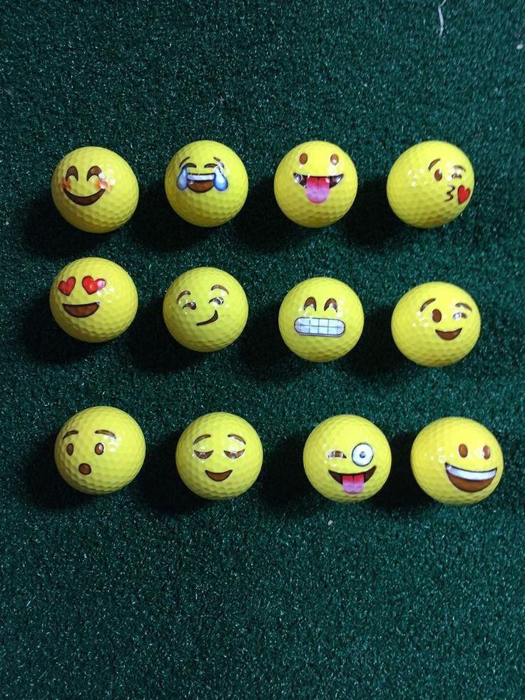 12 Emoji Golf Balls #Unbranded