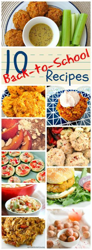 10 Back-to-School Recipe Ideas - make-ahead breakfasts, clean (some vegan!) lunch options, and healthy treats!